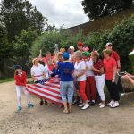 Tryst Ladies Solheim Cup Day-Team USA being presented with the cup